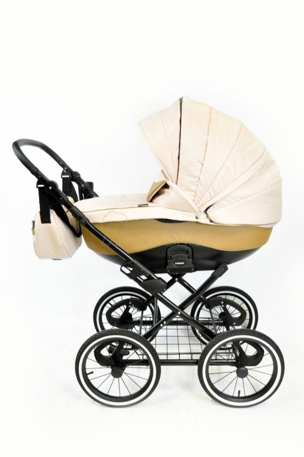 коляска FIRKON Classic Leatherette grey Eco 3в1/2в1 14'', пружинная амортизация